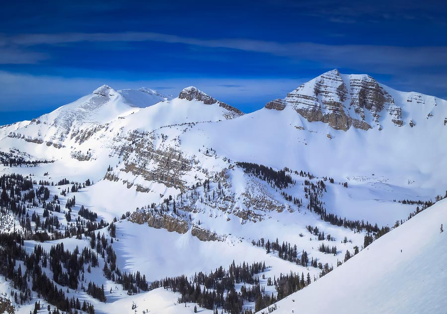 The amazing views from Jackson Hole Mountain Ski Resort in the Grand Teton National Park, Wyoming